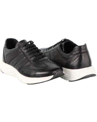 Кожаные кроссовки - черные Alvito
