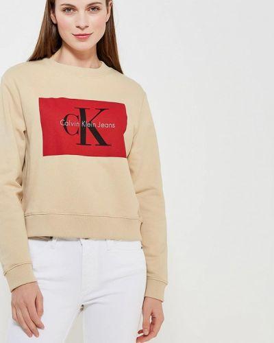 Бежевые джинсы Calvin Klein Jeans