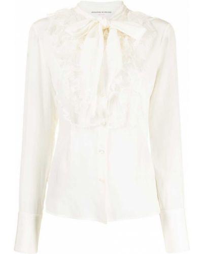 Белая блузка из органзы Ermanno Scervino
