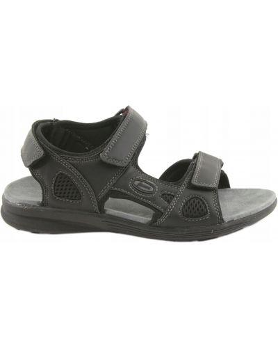 Sandały skórzane - czarne American Club