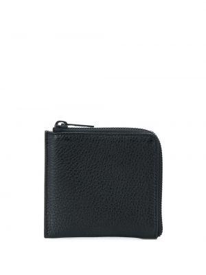 Czarny portfel skórzany Maison Margiela