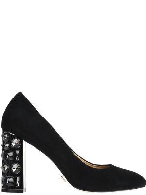 Кожаные туфли на каблуке замшевые Gianni Renzi