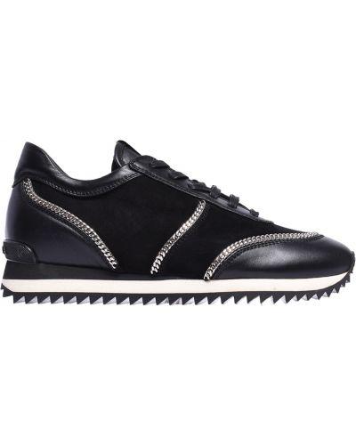 Черные кроссовки замшевые Le Silla