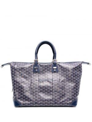 Niebieska torebka skórzana Goyard