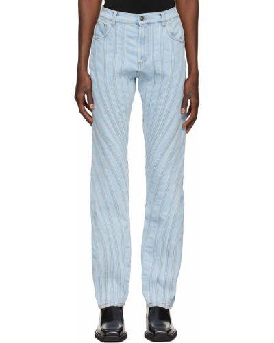 Niebieskie mom jeans Mugler