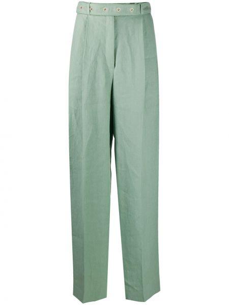 Зеленые брюки со складками Mrz