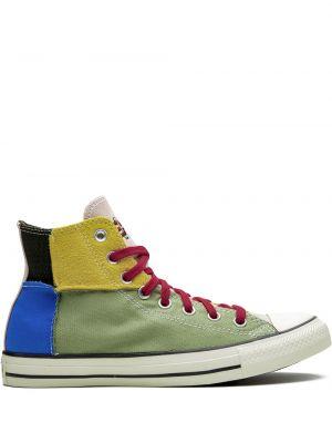 Деловой высокие кроссовки с заплатками Converse