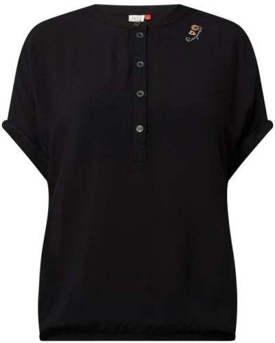 Czarna bluzka krótki rękaw z wiskozy Ragwear