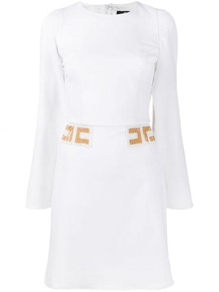 Платье макси с вышивкой с бисером Elisabetta Franchi