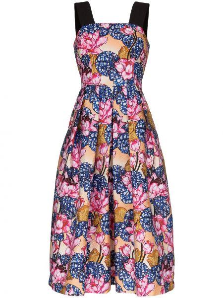 Платье миди с цветочным принтом на молнии Mary Katrantzou