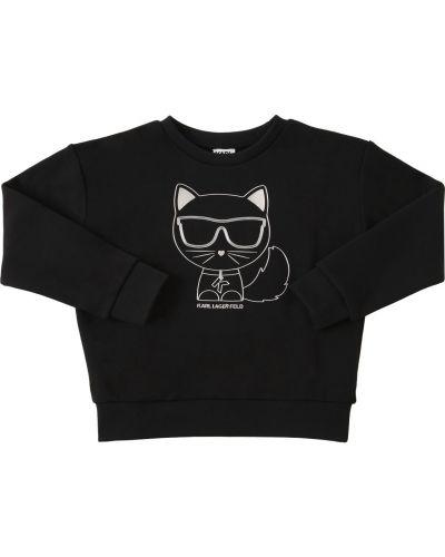 Черная хлопковая кофта Karl Lagerfeld