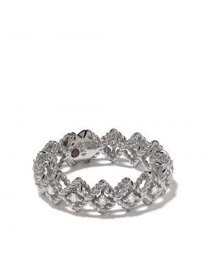 Z rombem biały pierścień okrągły z diamentem Roberto Coin