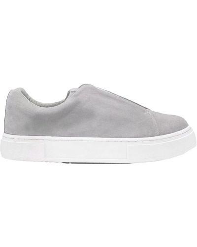 Szare sneakersy skorzane Eytys
