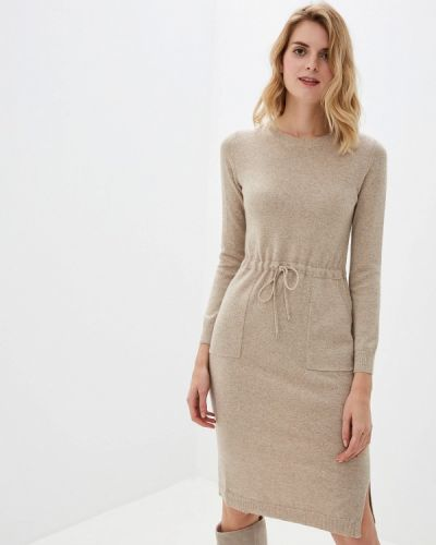 Платье осеннее бежевое Lusio