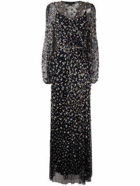 Czarna sukienka kopertowa Jenny Packham
