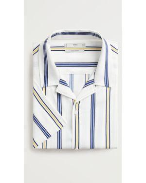 Koszula klasyczna z wiskozy z kołnierzem Mango Man