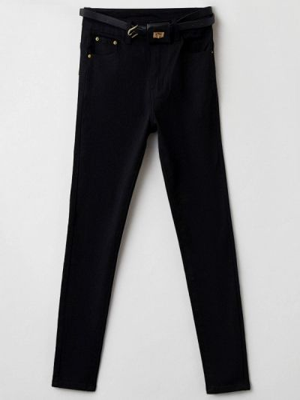 Зауженные джинсы - черные G&g