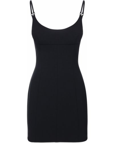 Czarny z paskiem sukienka mini na paskach Alexander Wang