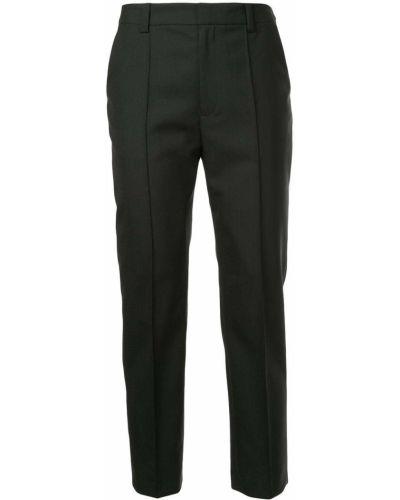 Укороченные брюки шерстяные деловые Le Ciel Bleu