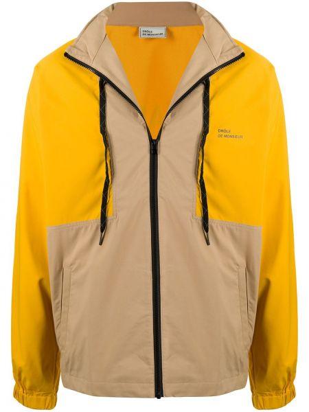 Żółta długa kurtka z długimi rękawami Drole De Monsieur