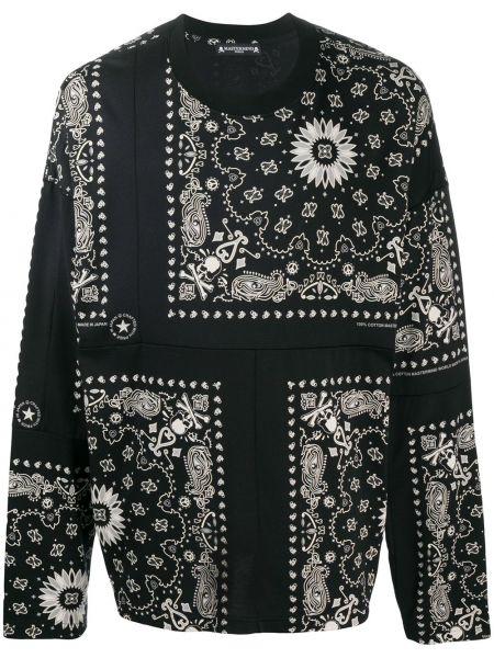 Bawełna bawełna czarny bandana z długimi rękawami Mastermind Japan