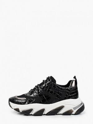 Черные зимние низкие кроссовки Lamania