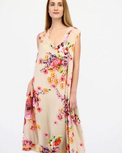 Повседневное платье весеннее бежевое Panove