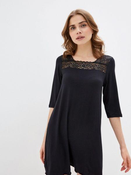 Платье - черное Дефиле