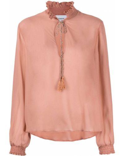 С рукавами блузка с воротником из вискозы Dondup