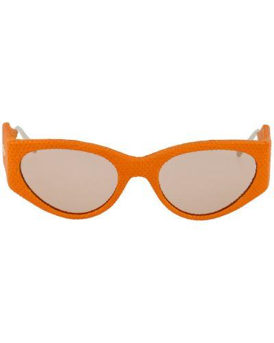 Pomarańczowe okulary Salvatore Ferragamo
