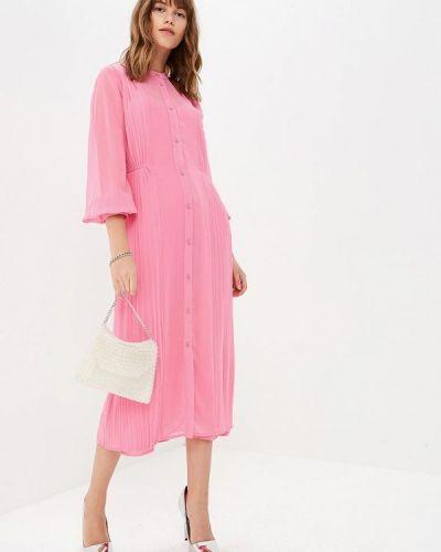 Розовое платье Warehouse