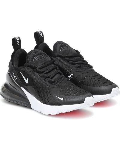 Włókienniczy czarny sneakersy Nike Kids