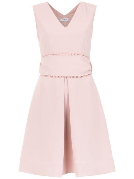Платье с поясом розовое плиссированное Olympiah