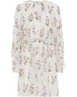 Платье мини с цветочным принтом шелковое Giambattista Valli