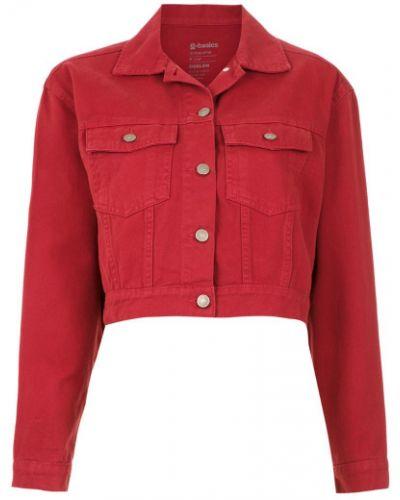 Красная джинсовая куртка на пуговицах Osklen