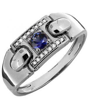 Кольцо серебряный из золота Aquamarine