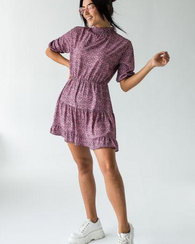 Розовое платье с воротником Clew