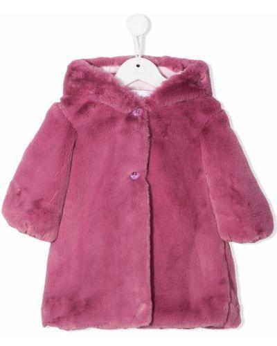 Fioletowy płaszcz z kapturem Colorichiari