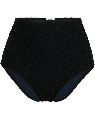 Черные бикини с высокой посадкой с декоративной отделкой Roseanna