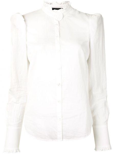 Белая рубашка с манжетами с воротником на пуговицах Veronica Beard