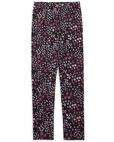 Fioletowe legginsy bawełniane w kwiaty Just Kidding