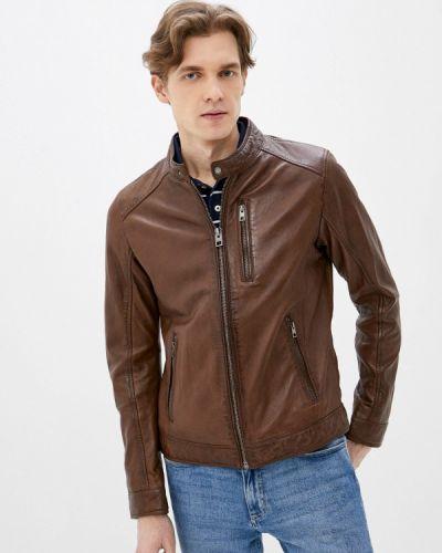 Кожаная куртка - коричневая Oakwood