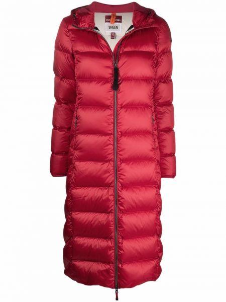 Красное пальто с капюшоном Parajumpers