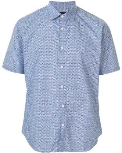 Классическая синяя классическая рубашка с воротником на пуговицах D'urban