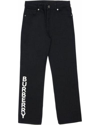 Bawełna bawełna czarny jeansy z kieszeniami Burberry