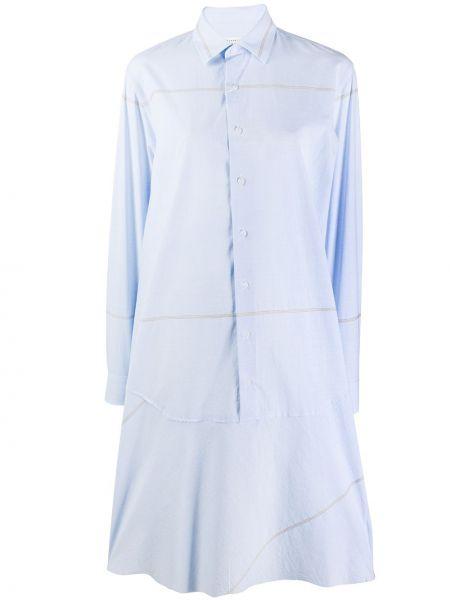 Платье макси в полоску на пуговицах Maison Margiela