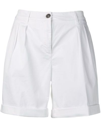 Белые шорты с карманами на пуговицах Fay