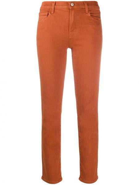 Прямые ватные хлопковые оранжевые прямые джинсы J Brand
