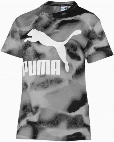 Bawełna bawełna czarny t-shirt Puma