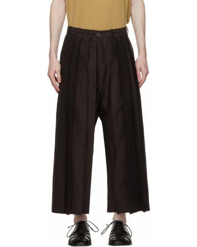 Czarne spodnie z paskiem bawełniane Jan-jan Van Essche